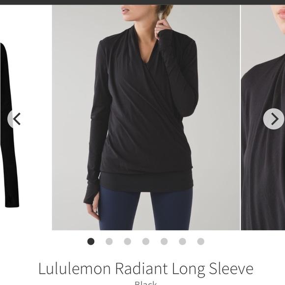 lululemon athletica Tops - Lululemon radiant black long sleeve shirt